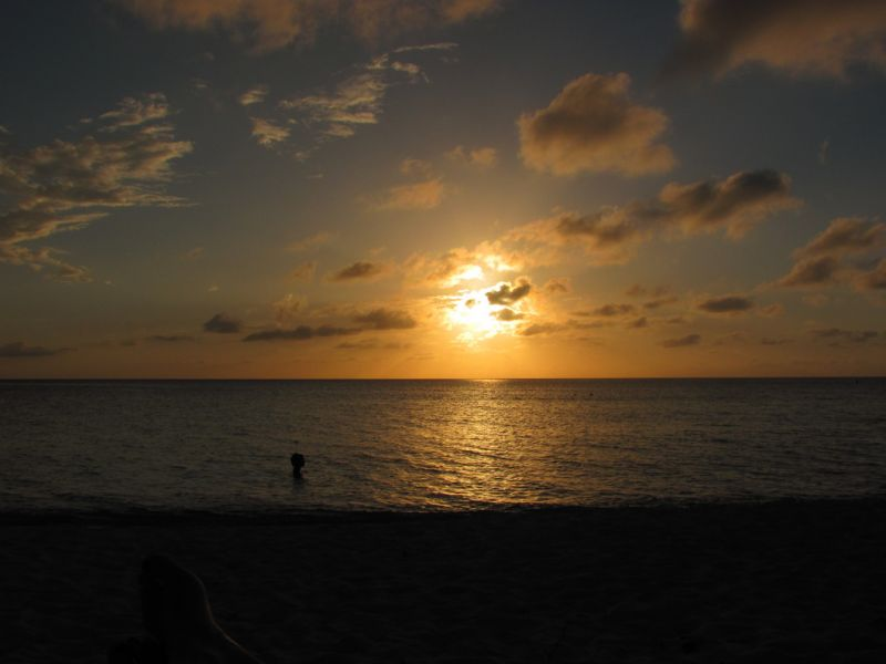 Grand Cayman Island ZF2EA Tourist attractions spot Sunset.