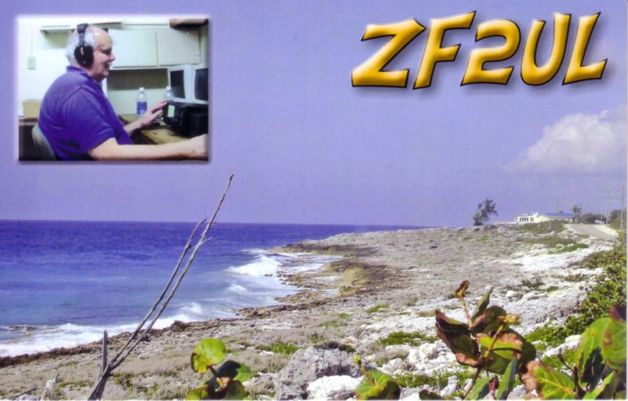 Grand Cayman Island ZF2UL QSL