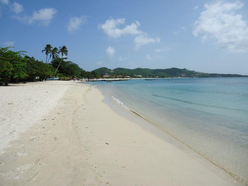 Grenada Island J3/KO8SCA Tourist attractions spot Grande Anse Beach.