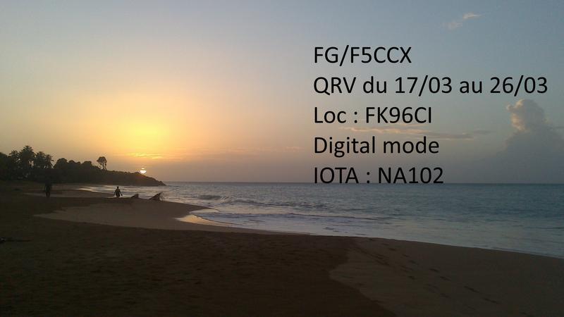 Остров Гваделупа FG/F5CCX