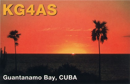 Guantanamo Bay KG4AS QSL