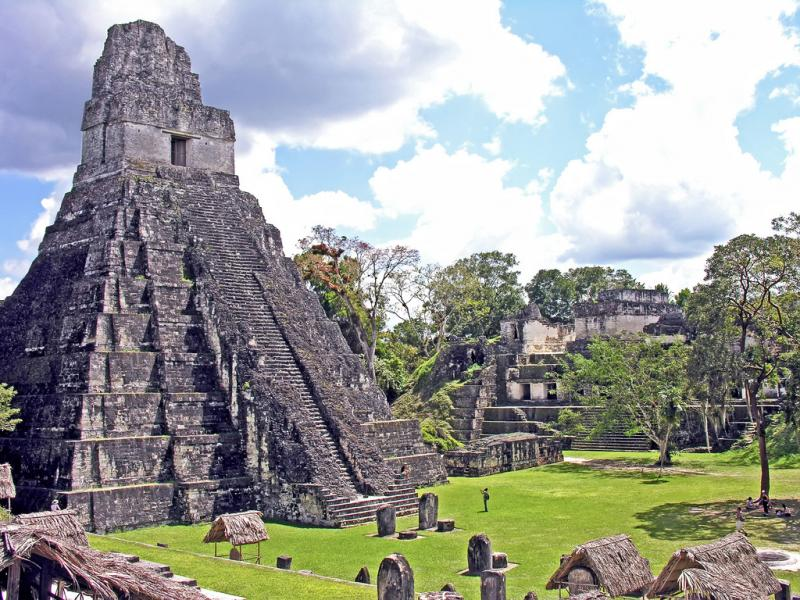 Guatemala TG9/JA2SWH Tourist attractions spot Temple of the Great Jaguar, Tikal, Peten.