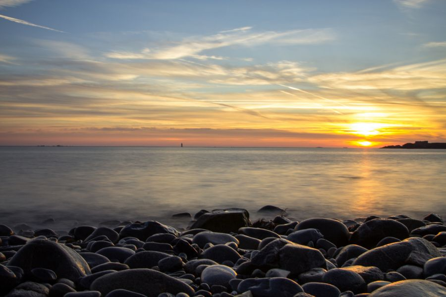 Guernsey Island GU0URR Tourist attractions spot Sunrise