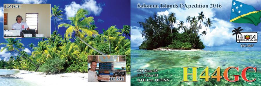 Соломоновы острова H44GC QSL