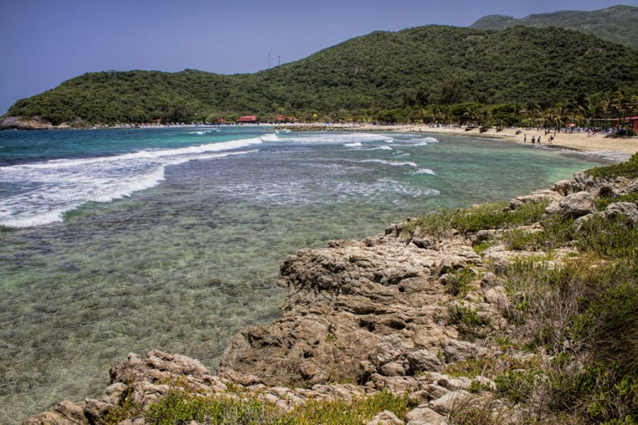 Haiti 4V1TL Tourist attractions spot Royal Caribbean's private beach Labadee.