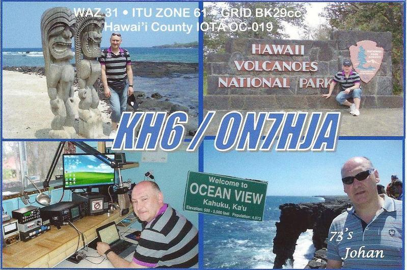 Hawaii KH6/ON7HJA QSL