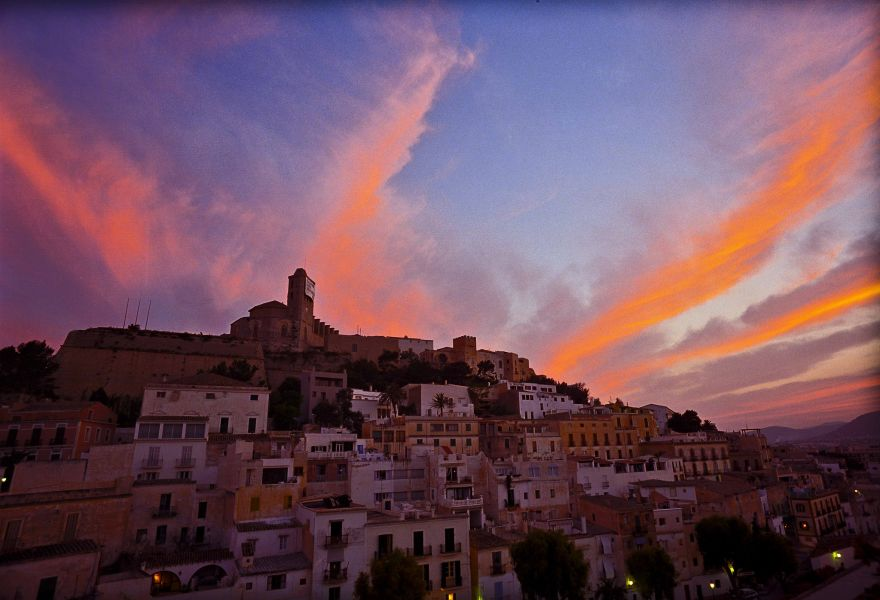 Ibiza Island Balearic Islands EA6/DD1AY Tourist attractions spot Sunset