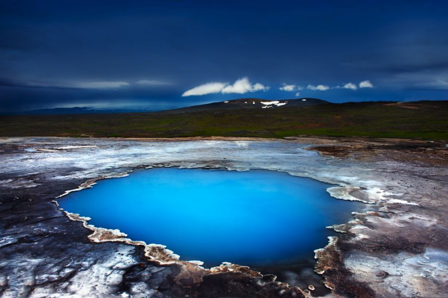 Iceland TF4X Tourist attractions spot Incredibly blue pool