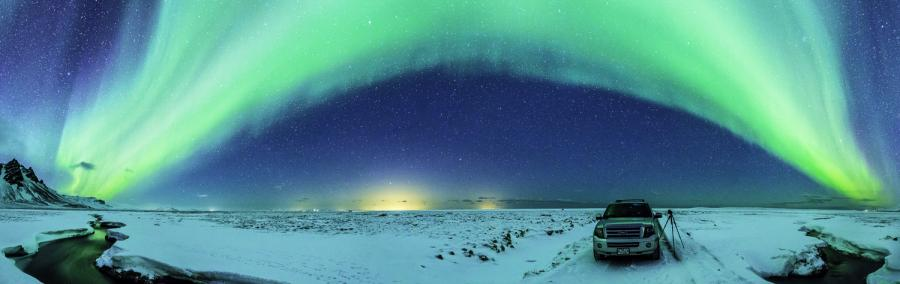 Iceland TF/KO8SCA Tourist attractions spot Polar Light Picture