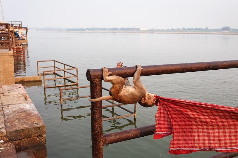 India AT5R Tourist attractions spot Varanasi.