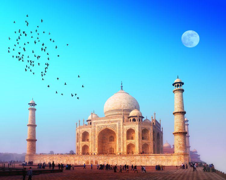 Индия VU3WDN DX Новости Дворец Тадж Махал.
