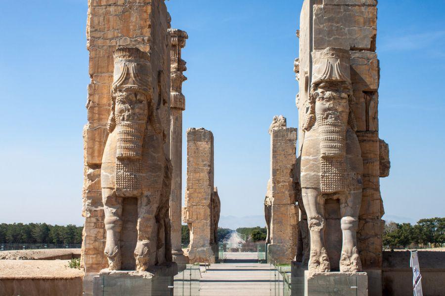 Iran EP2A Ruins of ancient Persepolis, Iran. Gate of Nations.