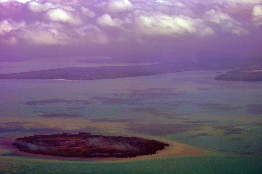 Полет из Дарвина Острова