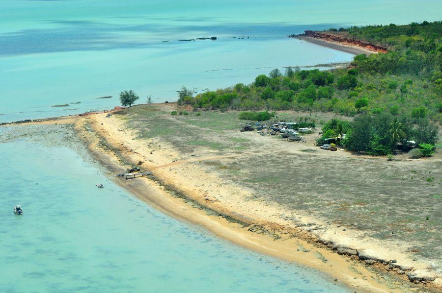 Остров Крокер Jabru Lodge из самолета