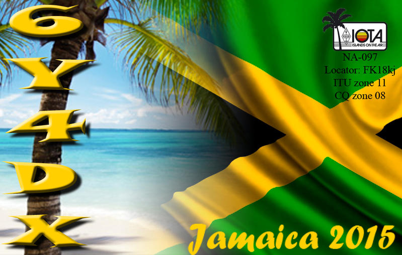 Ямайка 6Y4DX QSL