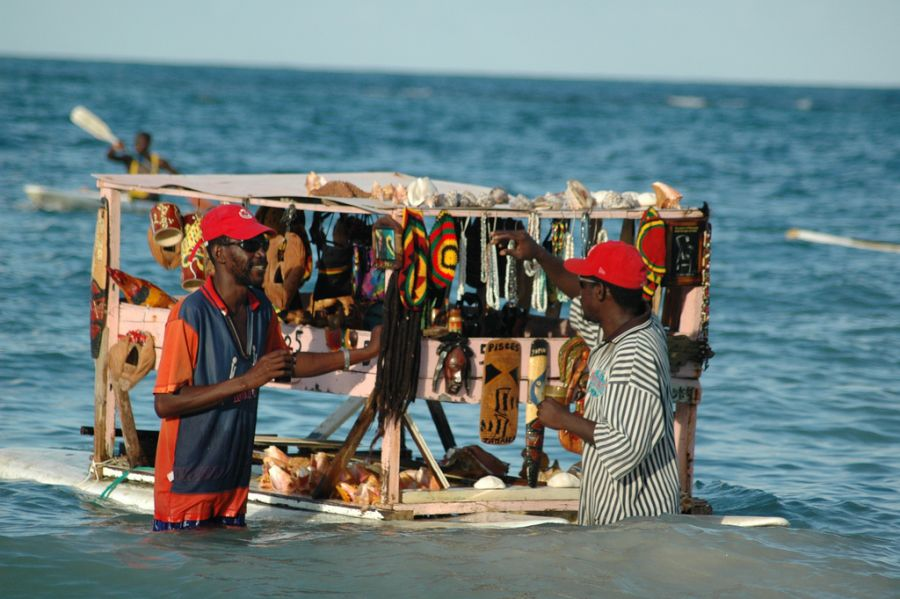 Ямайка 6Y6Y DX Новости Торговец на воде.