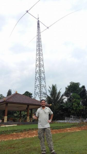 YF1AR Java Island 80m 2 element yagi