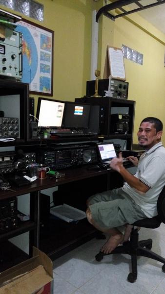 Остров Ява YF1AR В эфире Icom 7800