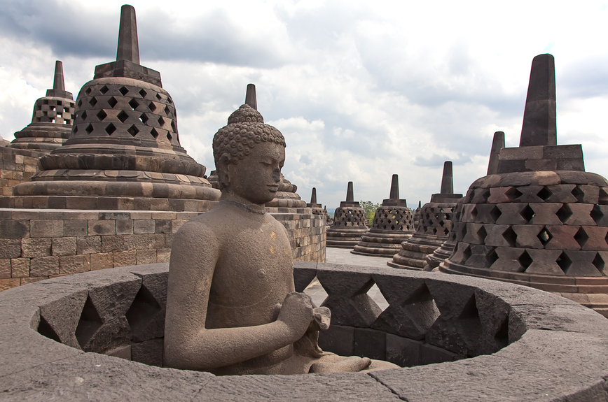 Java Island YF1AR/P DX News Borobudur temple