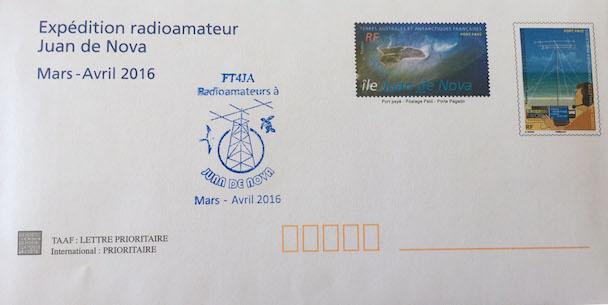 Juan de Nova Island FT4JA Envelope Stamps