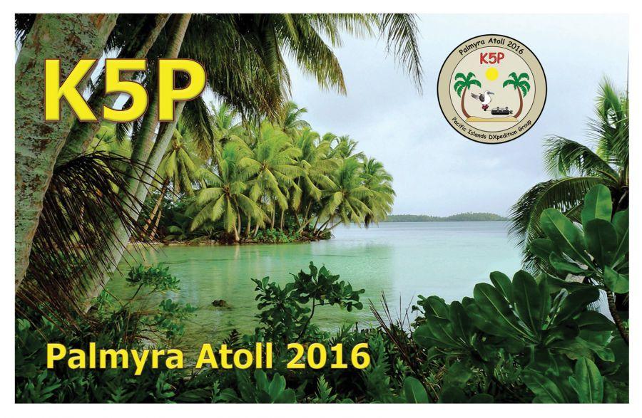 Palmyra Atoll K5P QSL