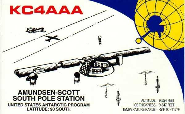 KC4AAA Антарктида QSL
