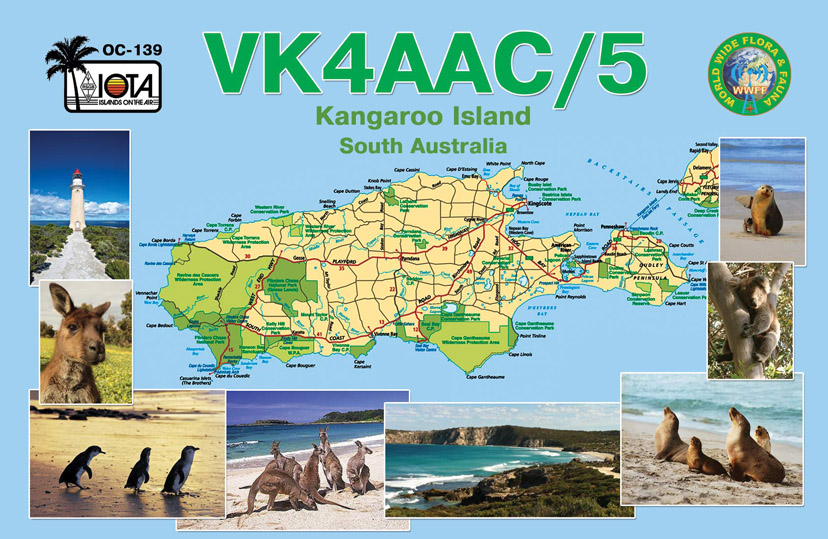Остров Кенгуру VK4AAC/5 QSL