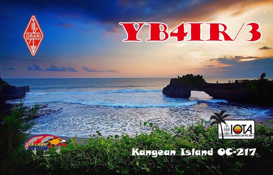 Kangean Island Kangean Islands YB4IR/3 QSL