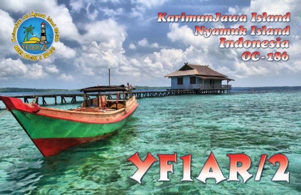 Nyamuk Island Karimunjawa archipelago YF1AR/2 QSL