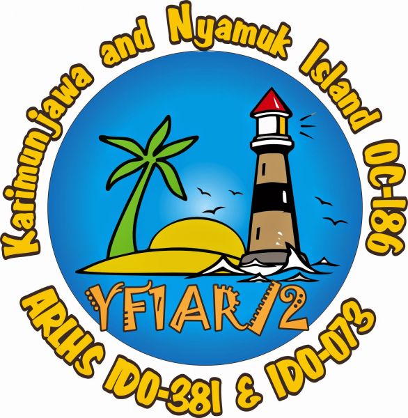 Karimunjawa Archipelago Nyamuk Island YF1AR/2 Logo