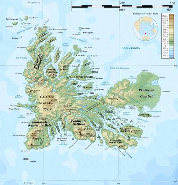 Острова Кергелен FT4XA Карта