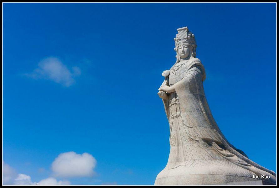 Остров Цзиньмэнь BO0KS Туристические достопримечательности Статуя Ма Зу.