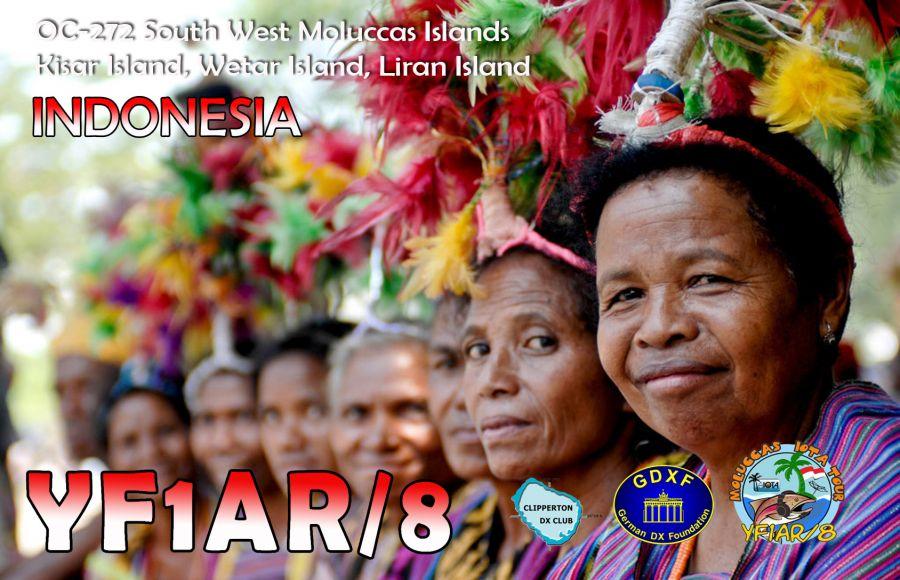 Kisar Island Wetar Island Liran Island South West Moluccas Islands YF1AR/8 QSL