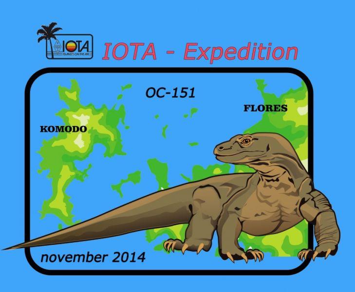 Komodo Island Flores Island YB9/DL7UVO YB9/DL3KZA Logo