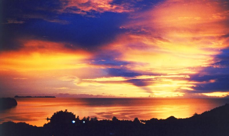 Koror Island T88AB Tourist attractions spot Sunset.