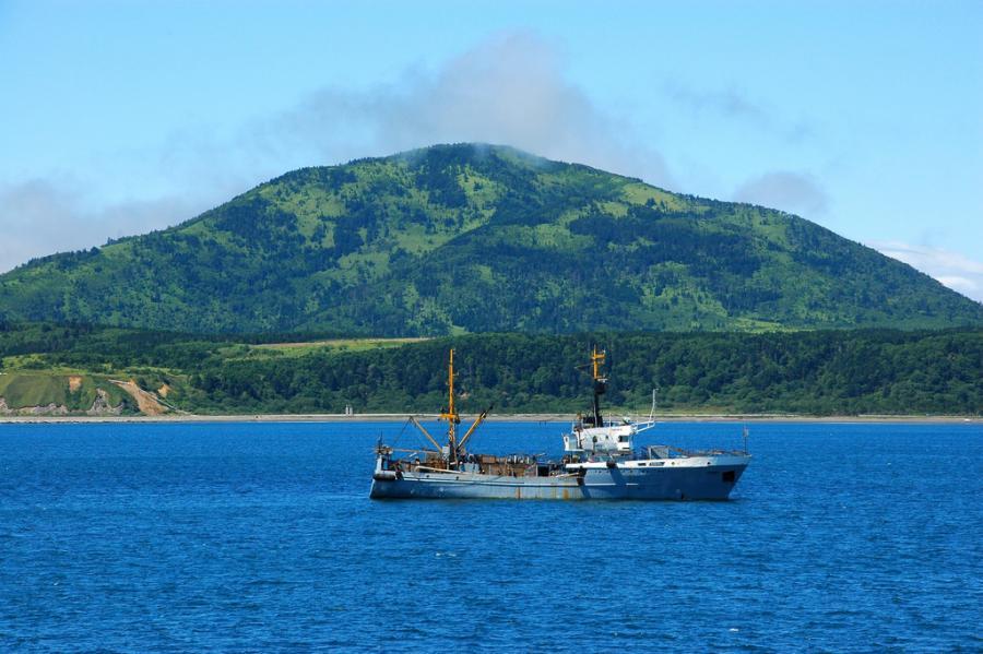 Остров Кунашир Курильские острова RV1CC/0 RM0F/P Туристические достопримечательности.