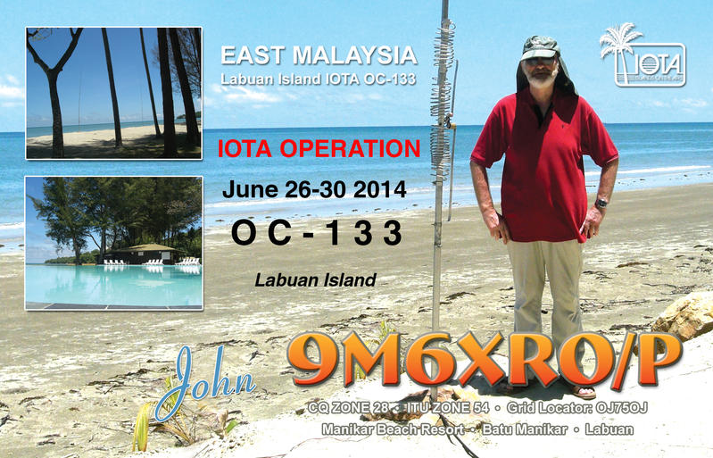 Labuan Island 9M6XRO/P QSL