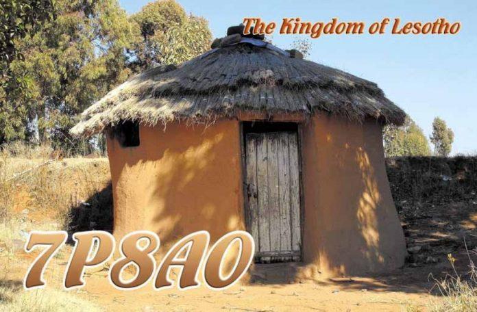 Lesotho 7P8AO QSL