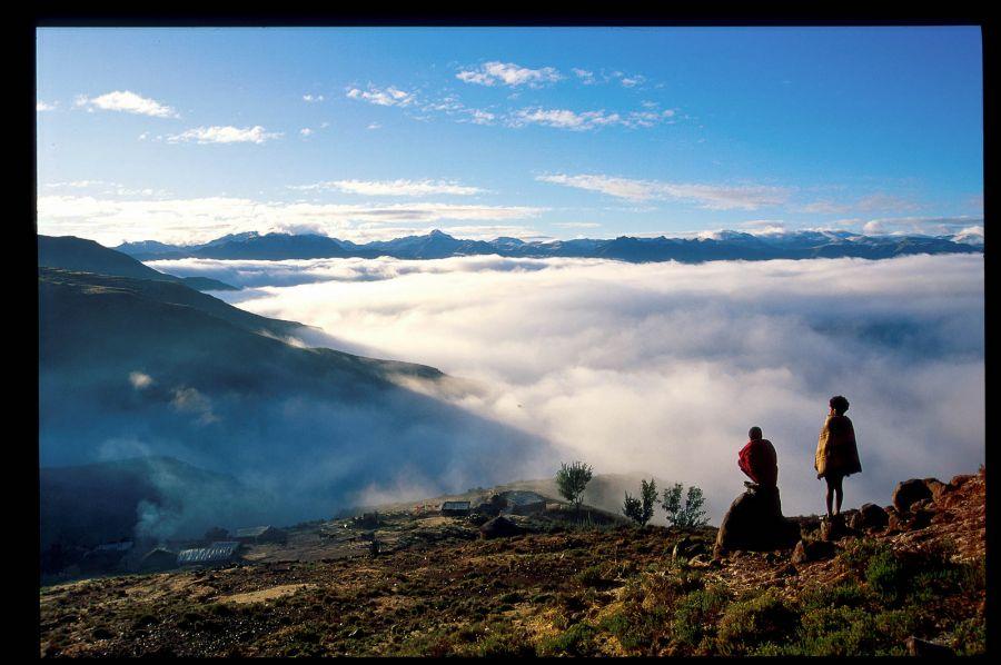 Lesotho 7P8DJ Tourist attractions spot Makhaleng river, Malealea.