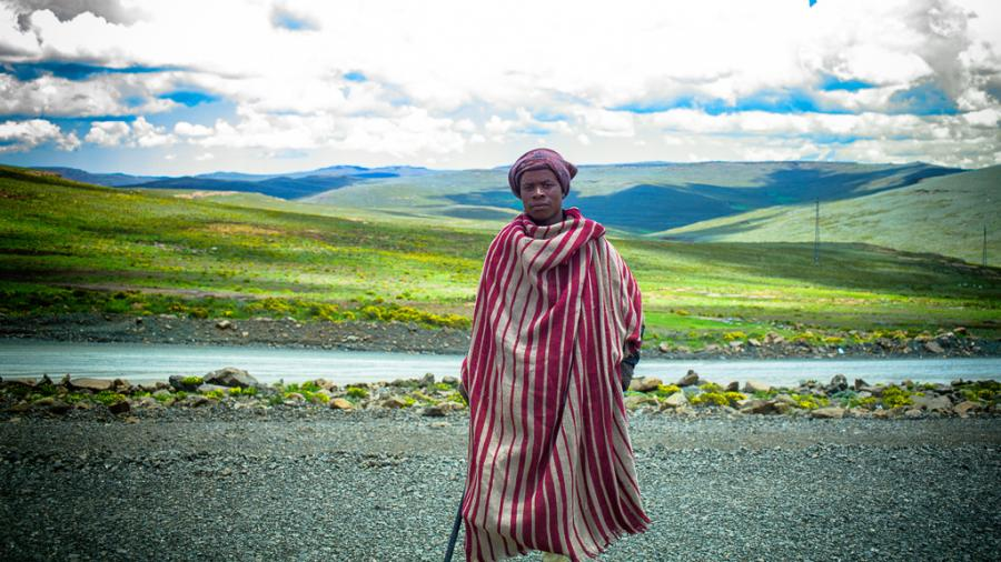 Lesotho 7P8NO Tourist attractions spot Mechechane, Butha-Buthe