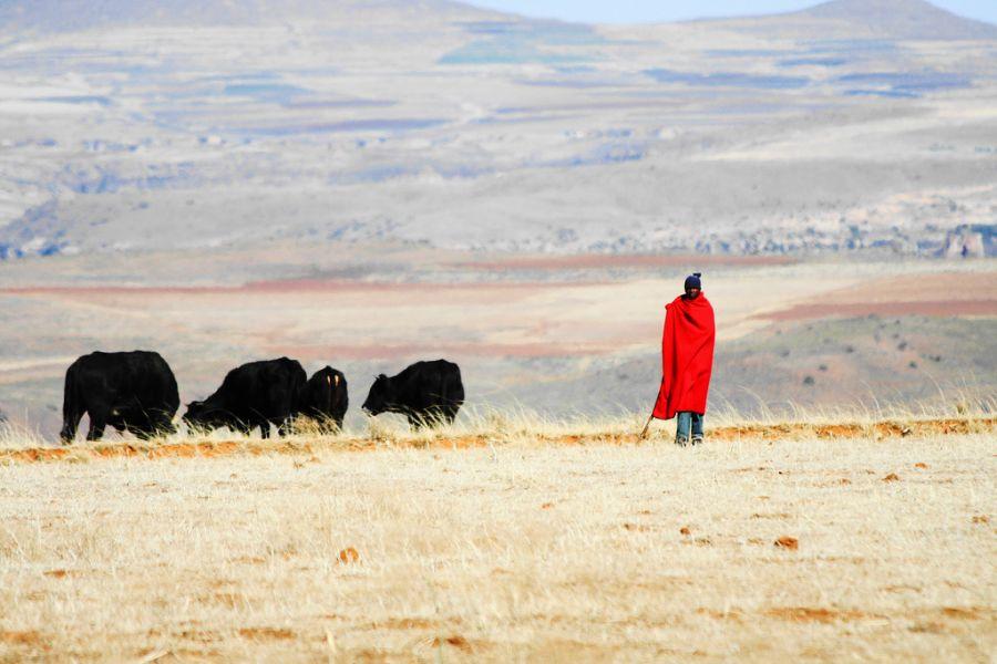 Lesotho 7P8VR Tourist attractions spot Malealea.