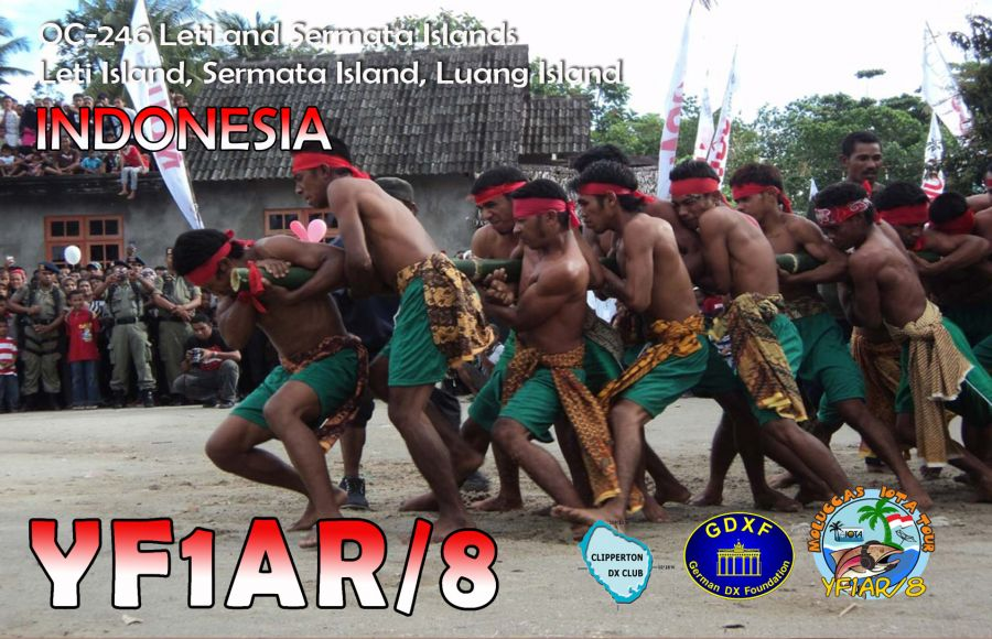 Leti Island Sermata Island Luang Island Leti Islands Sermata Islands YF1AR/8