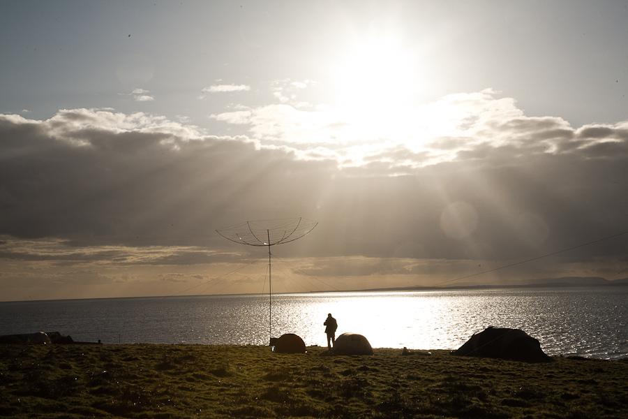 Little Saltee Island EJ1Y EJ0PL Antenna