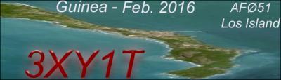 Остров Лос Иль де Лос Гвинея 3XY1T Логотип