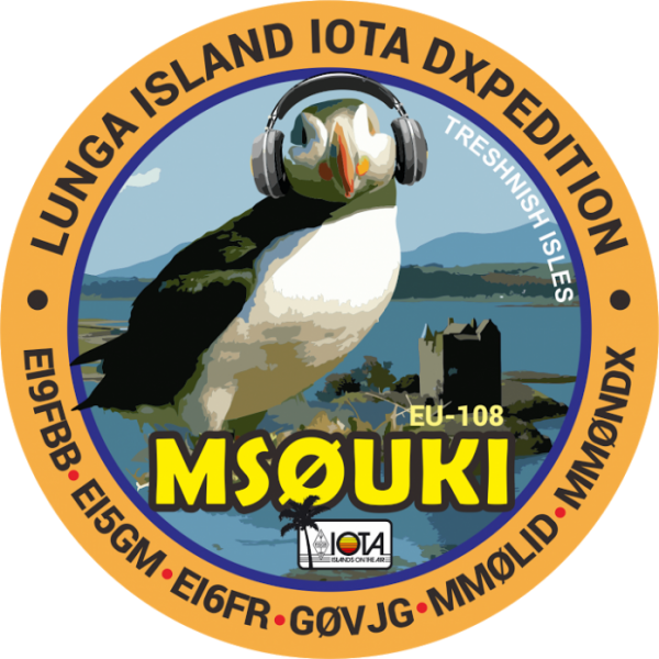 Lunga Island Treshnish Islands MS0UKI Logo