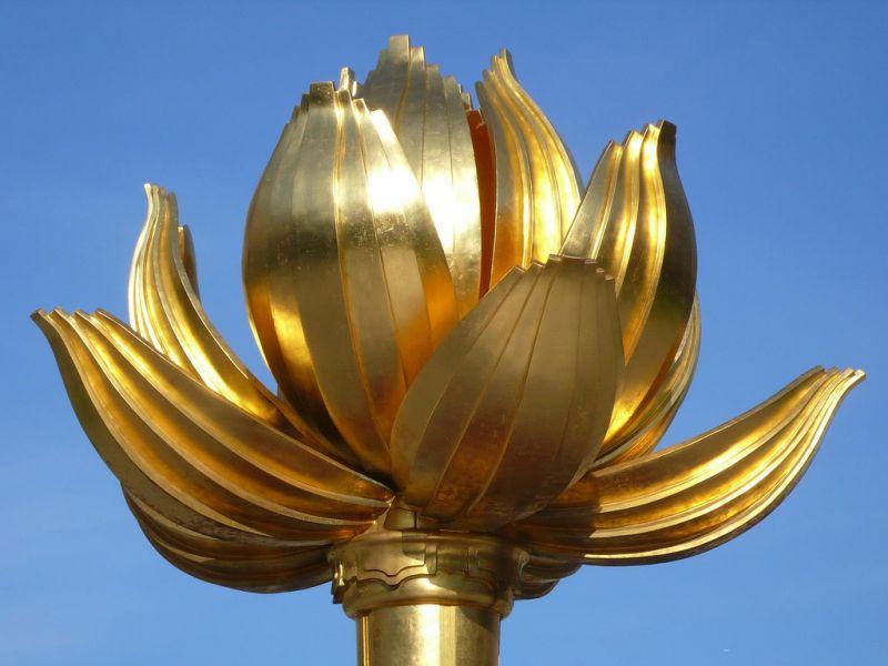 Macau XX9TGM Tourist attractions spot Lotus Flower Memorial.