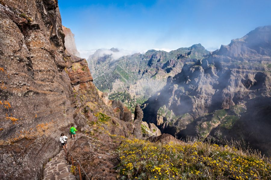 Madeira Island CR3OO Tourist attractions spot Landscape of trek Pico do Arieiro to Pico Ruivo