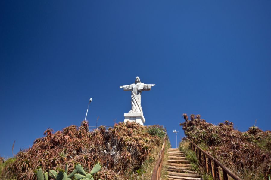 Madeira Island CR3OO Christ monument.