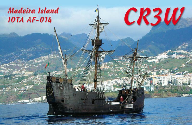 Остров Мадейра CR3W QSL