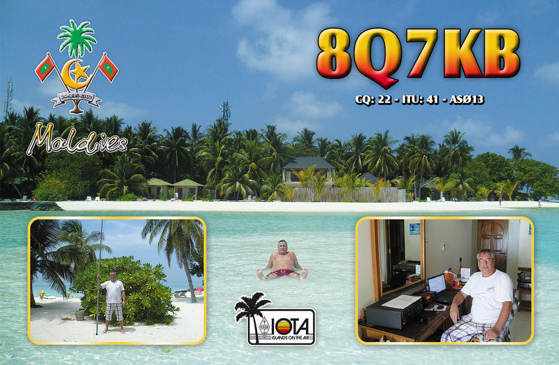 Maldives 8Q7KB QSL